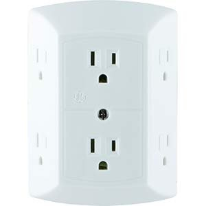$4.57GE 6 Outlet Wall Plug Adapter Power Strip