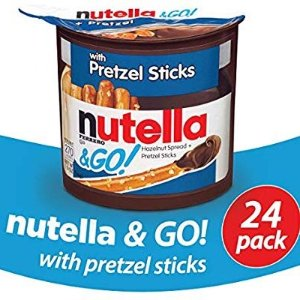 $22.8Nutella and Go Snack Packs, Chocolate Hazelnut Spread with Pretzel Sticks, 1.9 Ounce,24 Count