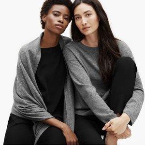 低至4.5折 $79收丝质混纺打底衫Eileen Fisher 美衣闪购热卖,日式舒适温柔风
