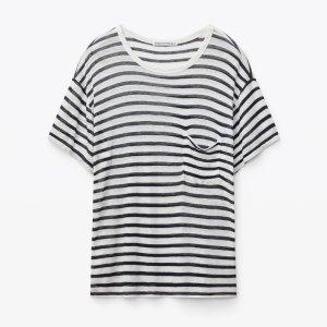 Alexander Wang条纹口袋T恤