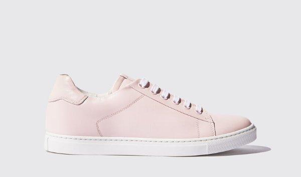 粉色平底鞋