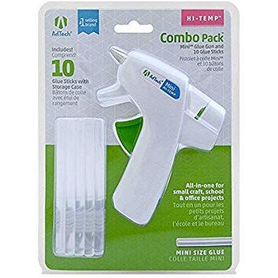 $4.27Ad-Tech Mini Hi-Temp Hot Glue Gun Combo Pack White