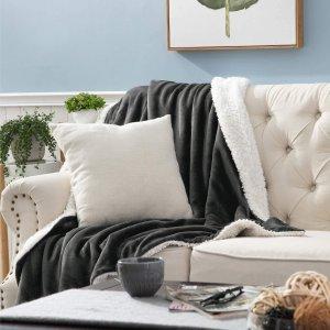 7折起+额外9折起 £9起收法兰绒毯子Bedsure 实用家居小物专场 毯子被套枕套 舒适新体验