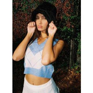 Maya Sweater Vest格纹背心