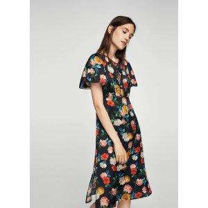 MangoFloral ruffled dress - Women | OUTLET USA