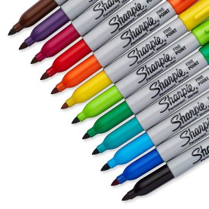 $7.29Sharpie 30072 Permanent Markers, Fine Point, Assorted Colors, 12 Count