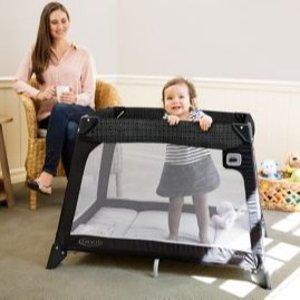 满$75省$20 封面款$79轻便实用GRACO 儿童游戏床、餐椅、摇篮产品促销