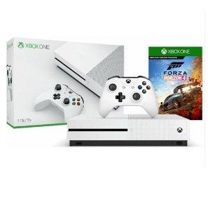 9.5折+额外9.7折 好游玩不停Xbox One S 1TB 游戏套装 极限竞速、星球大战