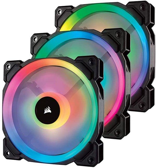 LL120 RGB, 120mm Dual Light Loop, RGB LED PWM Fan - Black (Triple Pack)
