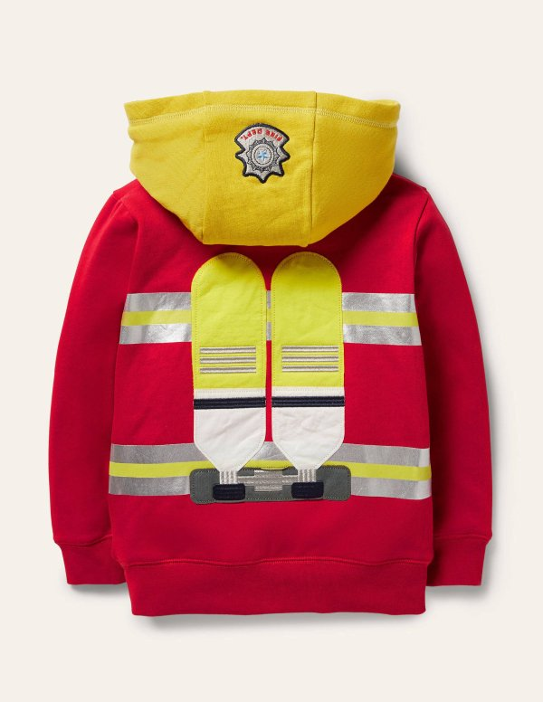 儿童消防员保暖连帽外套