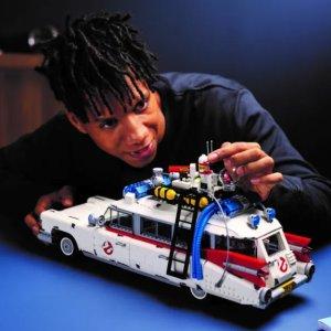 折后€152 装饰细节超详尽LEGO 10274 捉鬼敢死队 Ecto-1 捉鬼车热促 成品霸气