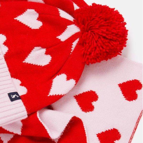 女童针织帽子+围巾套装
