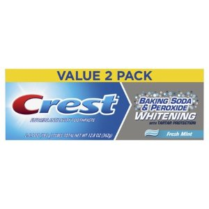 $3.72Crest Baking Soda & Peroxide Whitening with Tartar Protection Toothpaste, Fresh Mint, 6.4 oz., Pack of 2