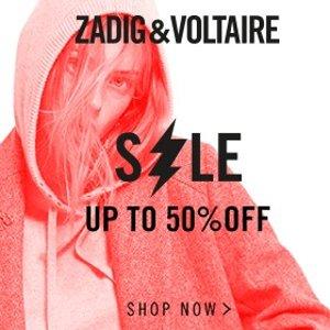 低至5折 大热链条包£210 流光外套£165Zadig & Voltaire 季末闪促 暗黑酷帅法国潮牌潮人速收