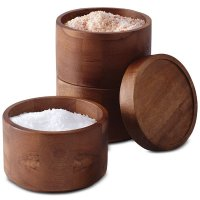 木制调味品罐 3件套
