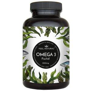 一天一粒吃一年 仅售€17.99Feel Natural Omega 3 鱼油 1000毫克版本 好价热卖