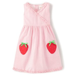 Gymboree粉色草莓条纹裙