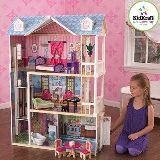 $81.16(原价$146.93) 近史低价KidKraft 我的梦想娃娃屋,3层豪宅夜晚能亮灯
