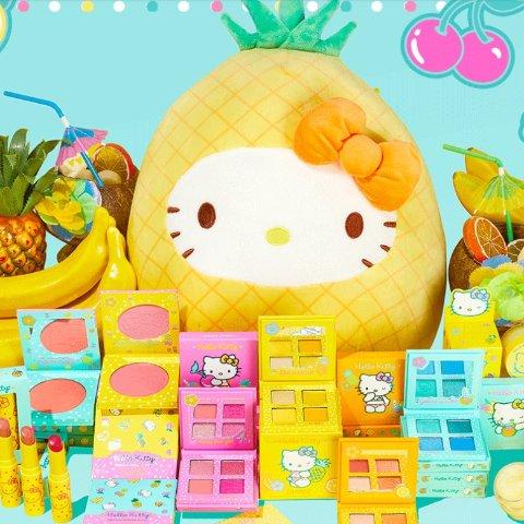 法国时间6月17日19点发售预告:Colourpop x Hello Kitty 联名彩妆 满满夏日水果元素