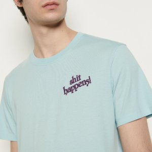 SandroBuy 3 Get Extra 20% OffCotton T-Shirt With Lettering, Green