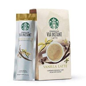 $5.34 起星巴克 VIA 多种口味袋装速溶咖啡粉 一盒5包装