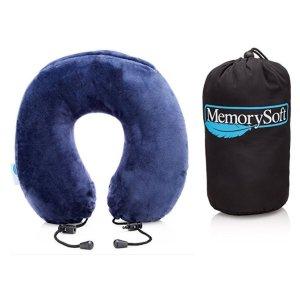$19.97(原价$24.97)闪购:MemorySoft 豪华丝绒记忆海绵护颈U型枕