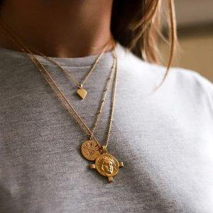 低至3.5折 开口戒指仅$20Missoma 饰品界当红炸子鸡 硬币项链、罗马风正流行