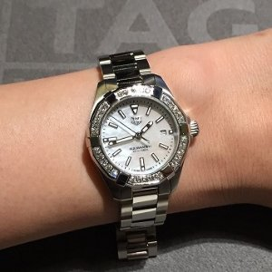 fc333e19f9b6 EXTRA  400 OFF TAG HEUER Aquaracer Diamond White Mother of Pearl Dial  Ladies Watch WBD1413.