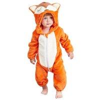 IDGIRL 狐狸婴幼儿毛绒连体衣