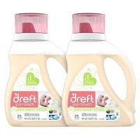 Dreft 宝宝液体洗衣液,低过敏性,2瓶共80盎司