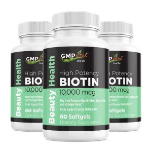 GMP Vitas® Biotin 10,000 mcg 3-Bottle Bundle