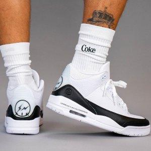 Nike林俊杰、鹿晗、王一博同款Air Jordan 3 x Fragment 运动鞋