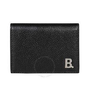 BalenciagaMini B Leather折叠钱包