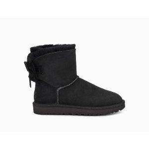 UGG Australia黑色低筒雪地靴