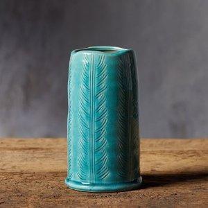 Aqua Feather Vase   Arhaus