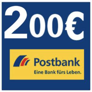 开户就送200欧Postbank Giro extra plus转账账户+终身免费VISA卡或者MasterCard
