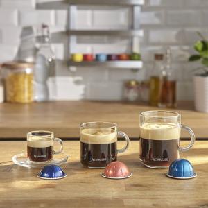 奶泡机+咖啡胶囊免费送Nespresso官网 VertuoPlus浓缩胶囊咖啡机 喜迎重启大促 2款6色可选