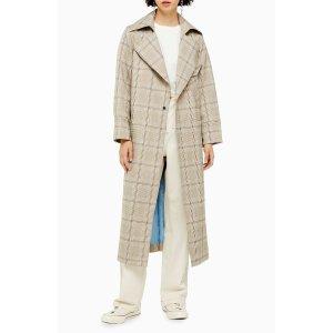 Topshop法式格子外套