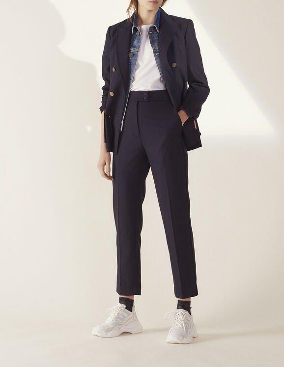 直筒裁缝裤