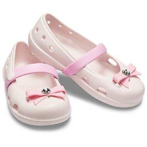 Crocs任意搭配2双$50粉色蝴蝶单鞋