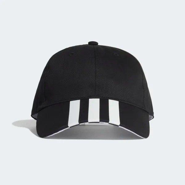 三道杠黑色棒球帽