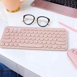 少女心粉色 €35 今天低价Logitech K380无线键盘 ipad os的最佳伴侣 触感、回弹超好