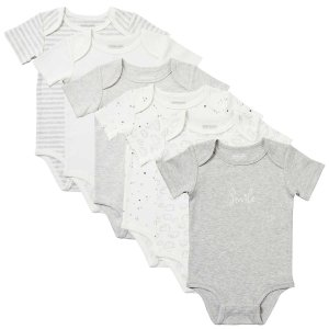 Kirkland SignatureSignature Infant 6-pack Cotton Bodysuit, Gray