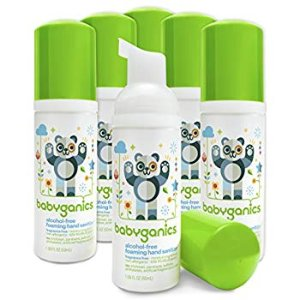 Amazon.com: Babyganics Alcohol-Free Foaming Hand Sanitizer, Fragrance Free, On-The-Go, 50 ml (1.69-Ounce), Pump Bottle (Pack of 6): Health & Personal Care