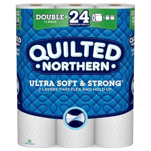 $6.65Quilted Northern Ultra Soft & Strong Toilet Paper, 12 Double Rolls