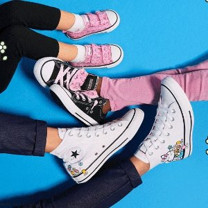$25起+包邮新品上市:Converse Hello Kitty联名款上新 妹子买大童款更划算