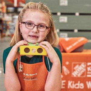 预告:3月 Home Depot 免费的儿童手工活动
