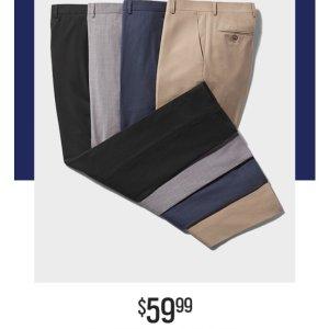 一律$59.99Men's Wearhouse 男士精选西裤热卖