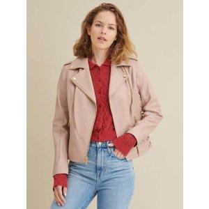 Wilsons LeatherLauren Leather Jacket with Side Lacing