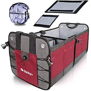Amazon.com: Starling's Car Trunk Organizer - Durable Storage SUV Cargo Organizer Adjustable, Bordeaux: Automotive